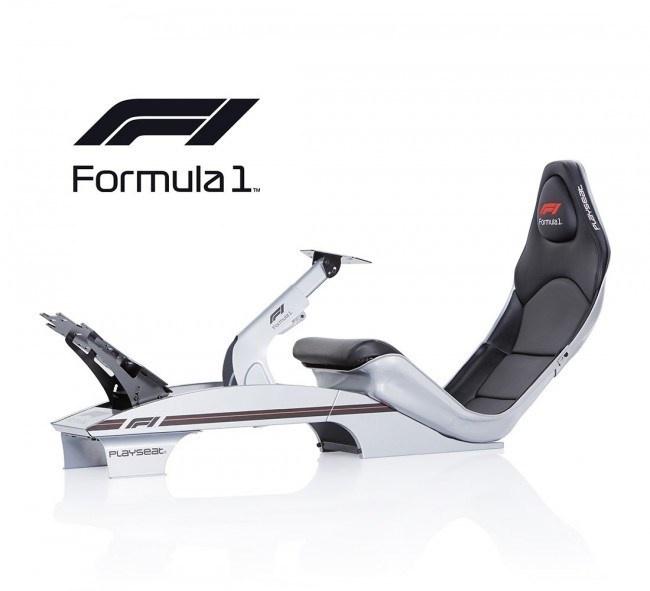 Playseat F1 Zilver met F1 branding