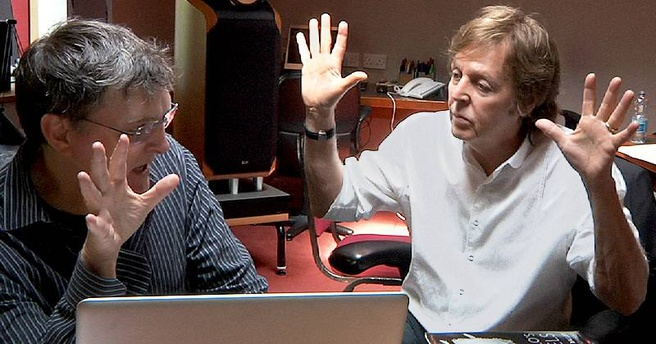 Paul McCartney en Bungie componist Marty O'Donnell