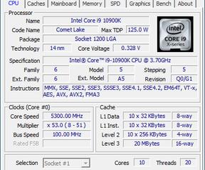 Cpu-z screenshots 10900K en 10600K