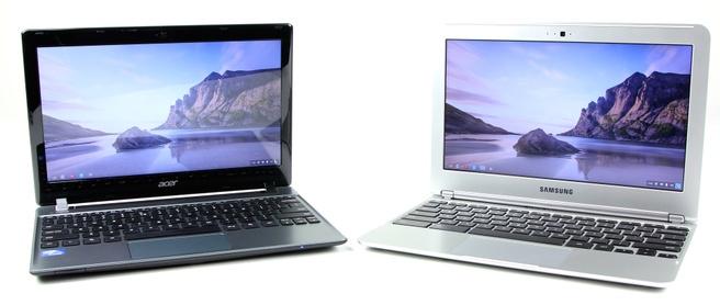 Acer C7 en Samsung XE303