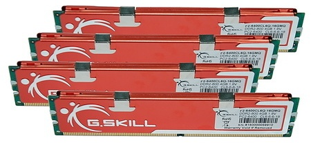 G.Skill 16GB (4x4096MB) DDR2 PC2 6400 CL6