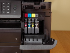 Inktcompartiment met inktcartridges