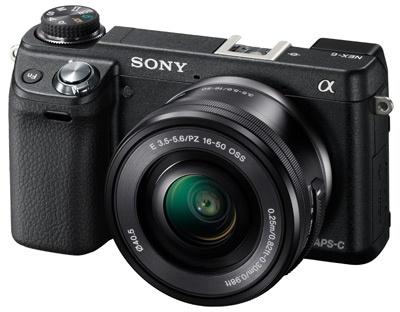 Sony NEX-6 fysieke modusknop