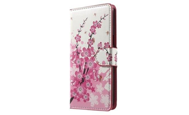 qMust Samsung Galaxy J7 (2017) Wallet Case Bloesem