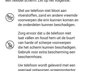 Screenshot Huawei Mate Xs: waarschuwingen