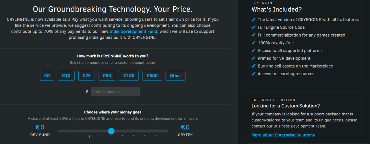 Crytek kondigt CryEngine V met 'pay-what-you-want