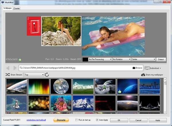 achtergrond twee schermen