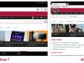 Vergelijking van websites op de iPad mini en Nexus 7 (horizontaal)