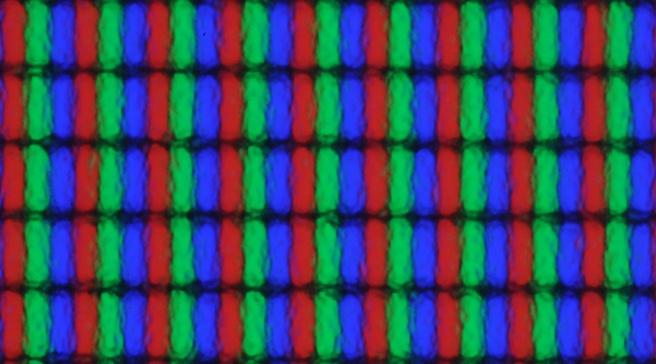 ASus VE276Q panel: subpixels