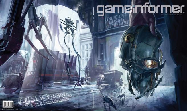 Dishonored op de cover van Game Informer