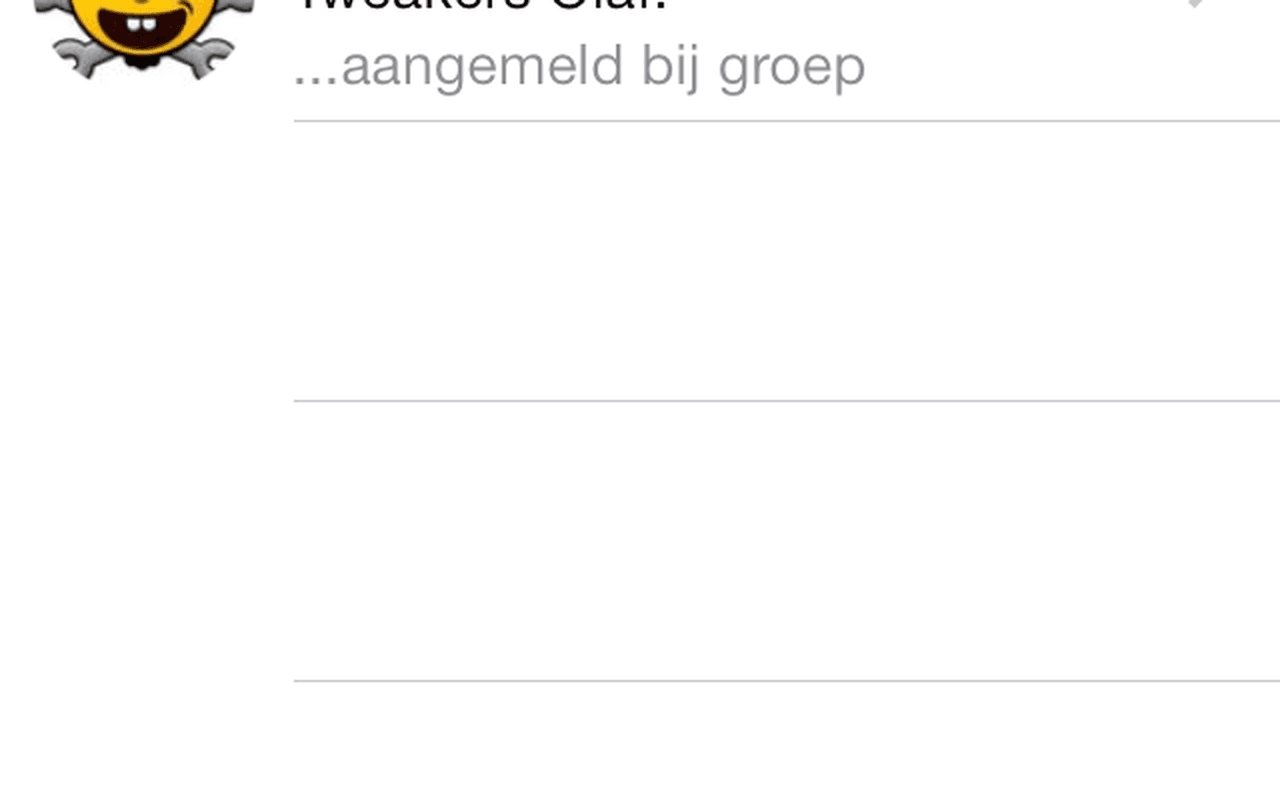 iOS7-versie WhatsApp