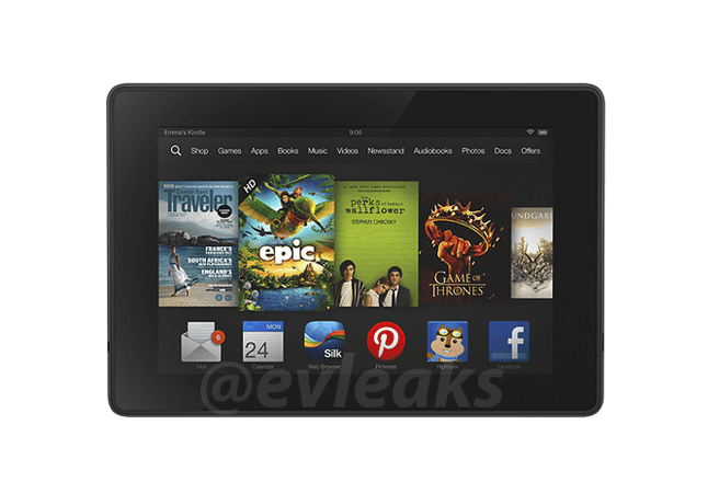 Gelekte persfoto Kindle Fire