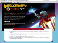 Mozilla Firefox 3.0 beta 4 screenshot (410 pix)
