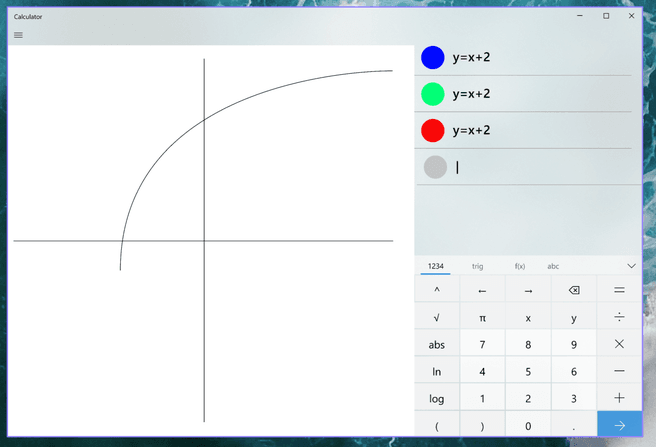 Microsoft grafische calculator