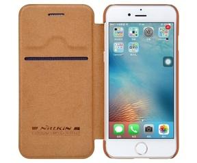 "Nillkin Qin PU Leather Book Case - Apple iPhone 7 (4.7"") - Bruin"