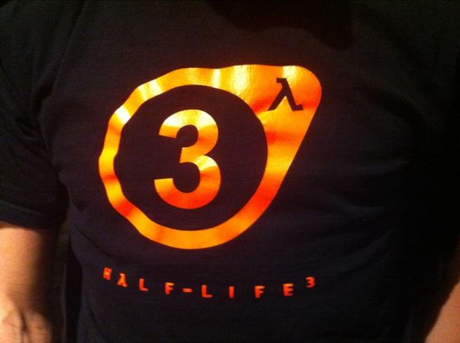 Logo Half-Life 3 op Valve t-shirt