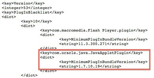 Java-blacklist Apple