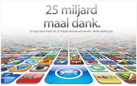 Apple App Store 25 miljard downloads