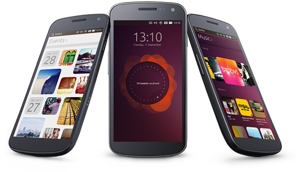 Ubuntu Touch op een smartphone