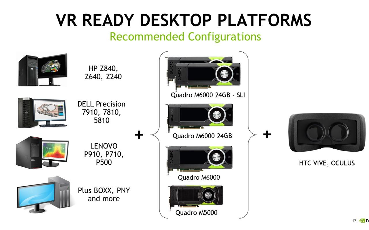 Nvidia VR Ready Workstations