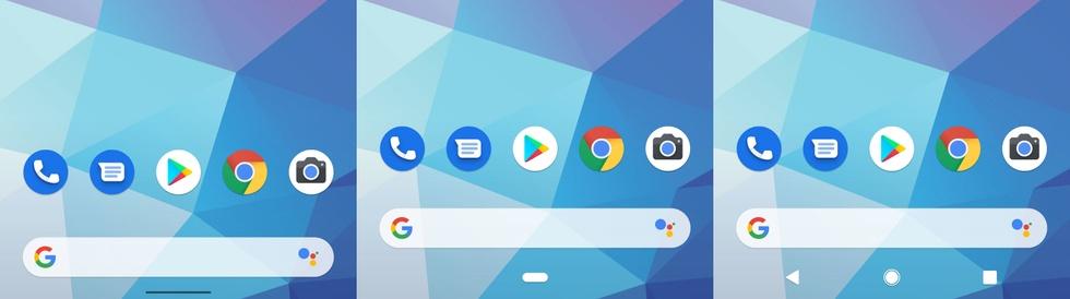 Navigatiemodi in Android Q