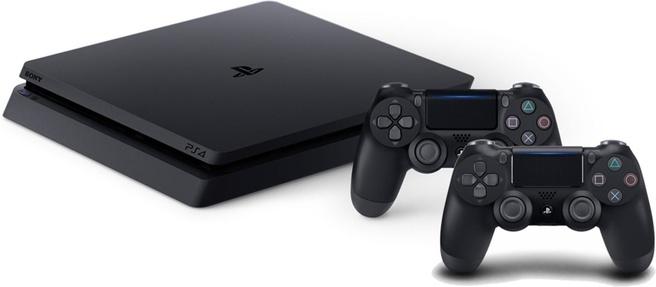 Sony PlayStation 4 Slim 1TB + 2x Dualshock controller + FIFA 19 Zwart