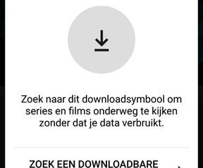 Downloadoptie in Netflix