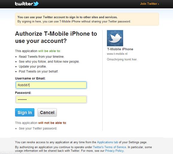 T-Mobile Actie - Twitter