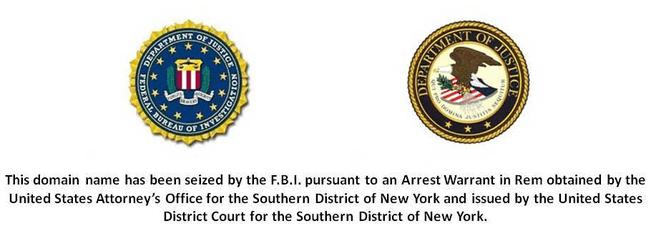 Homepage pokersites na inbeslagname door FBI