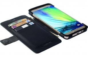 Krusell Malmo FlipWallet Samsung Galaxy A7 - hoesje met stand - zwart