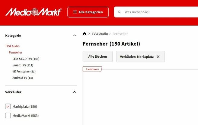 MediaMarkt marktplaats in Duitsland, oktober 2021
