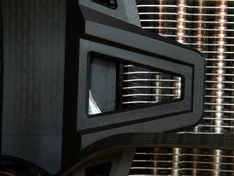 zijaanzicht koelerblok met ventilator detail midden