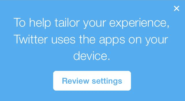 Twitter applicatiegebruik