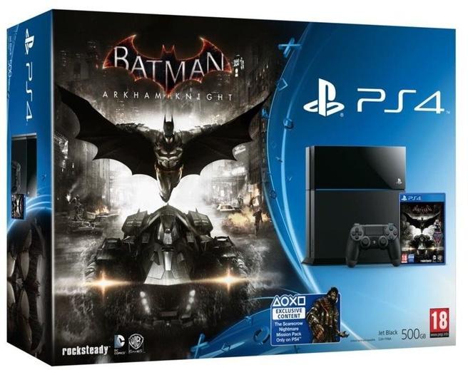 Sony PlayStation 4 + Arkham Knight Zwart