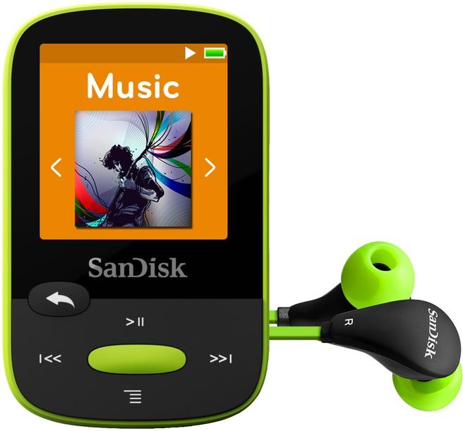 Sandisk Sansa Clip Sport - MP3-speler - 8 GB - Limoen 8GB