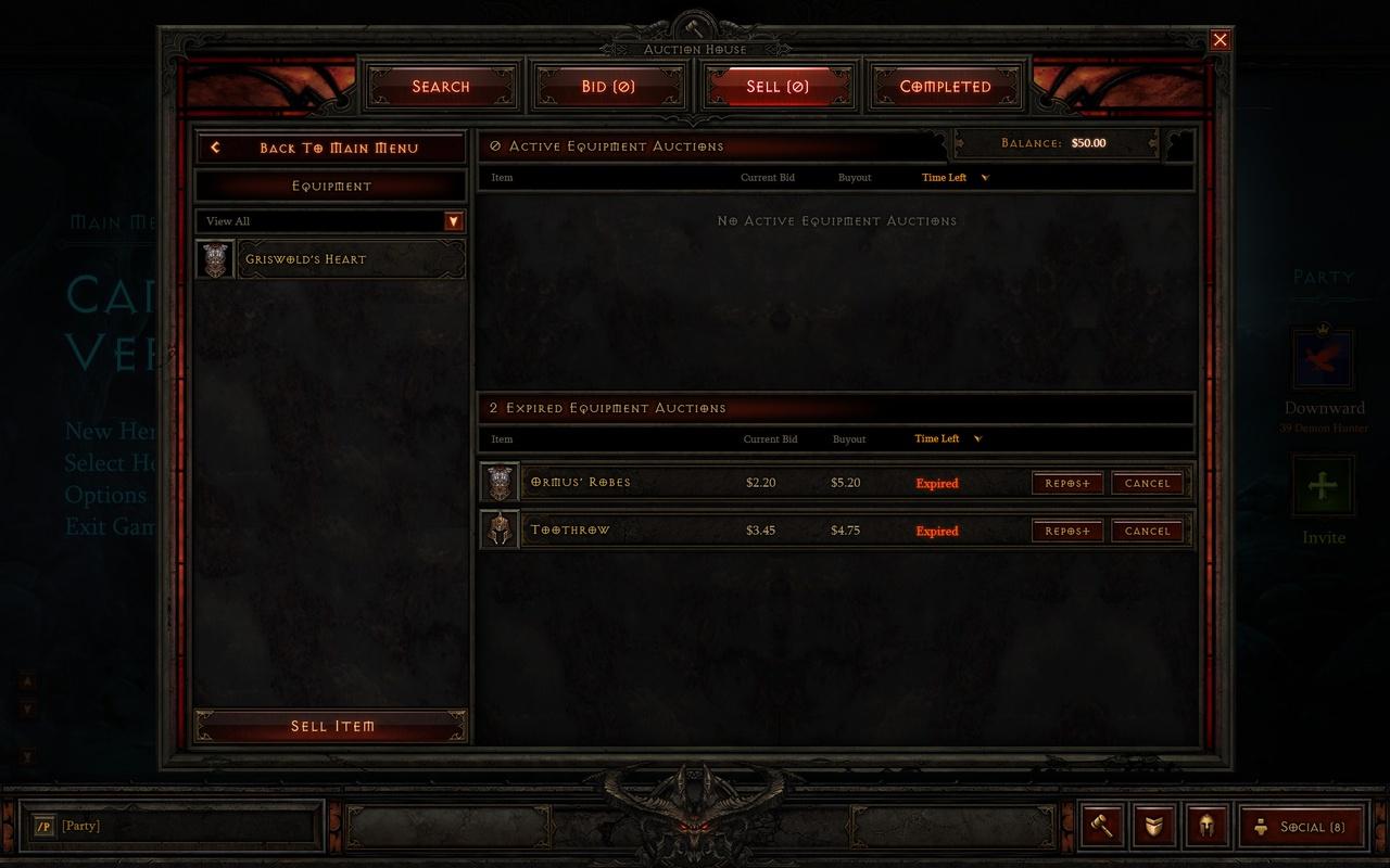 Diablo III - Auction House - Te koop voor dollars