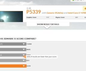 Nvidie GTX 860M 3DMark 11