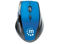 Manhattan Curve Wireless Optical Mouse Blue