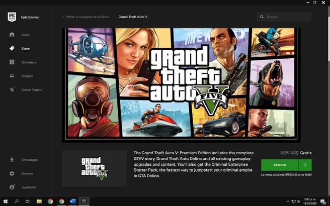 Epic GTA V gratis
