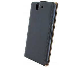 Mobiparts Mobiparts Premium Flip Case Sony Xperia Z Black