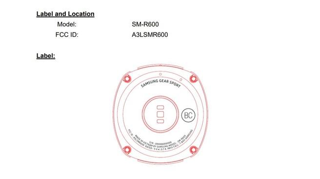 Samsung Gear Sport FCC