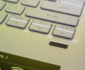 Acer Swift 3 vingerafdrukscanner