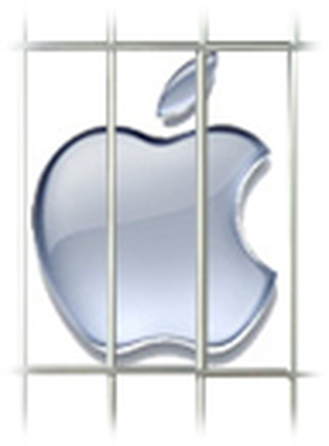 Apple achter tralies