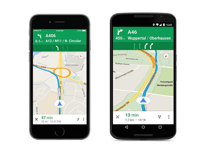 Google Lane Guidance