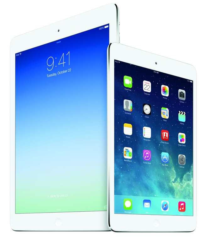 Apple iPad Air en iPad mini Retina