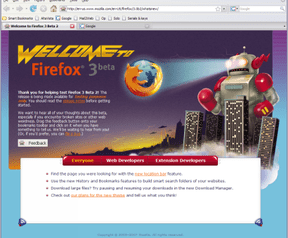 Mozilla Firefox 3.0 beta 2 screenshot (410 pix)