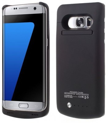 qMust Samsung Galaxy S7 edge Extended Battery Case - 5200mAh - Black