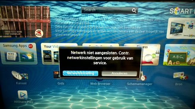 Samsung Smart Hub netwerkprobleem