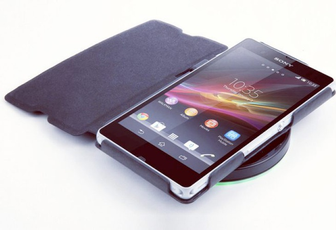 Sony Xperia Z op draadloze lader