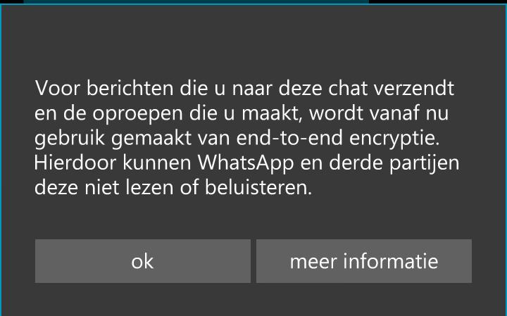 WhatsApp encryptie